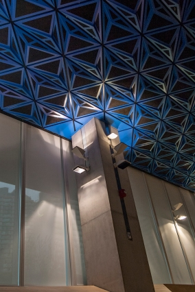 Ceiling and pillar at Ryerson.
