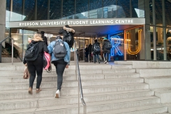 Entrance to Ryerson Student Learning Centre.