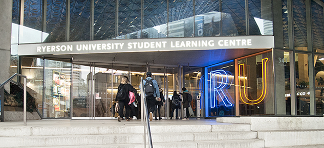 Ryerson Student Learning Centre entrance.
