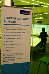 Student learning support at Ryerson.