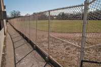 Walkway along the field, facing S.