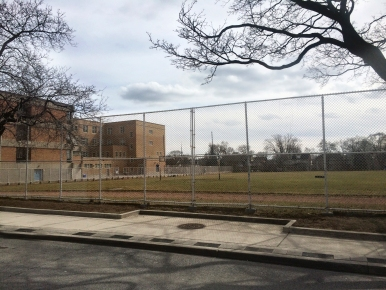 Oakwood athletic field from St. Clair W.