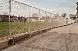 Athletic fence, looking toward St Clair W.