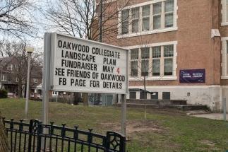 Sign outside Oakwood C I.