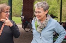 Minda and Susan talking