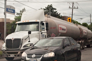 Tanker truck on Finch Ave