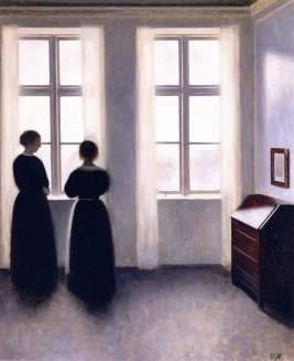 Vilhelm Hammershoi, Figures by the Window.