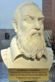 Galileo bust.