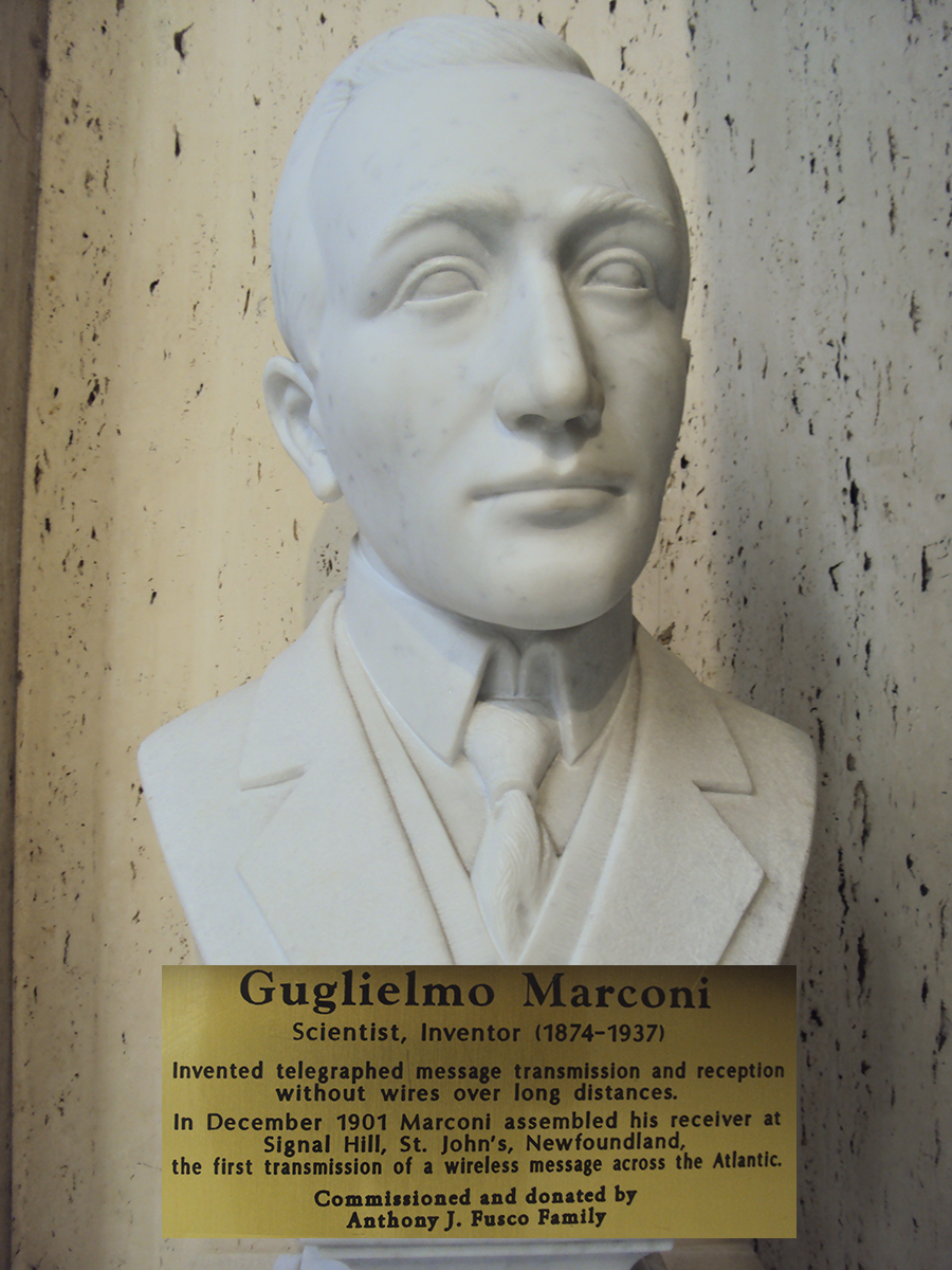Marconi bust.