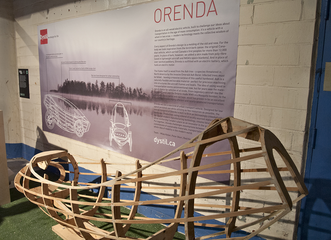 Orenda wooden car prototype.