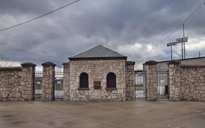 Horlick Field gatehouse.