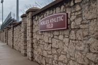 Horlick Field stone wall.