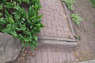 Broken walkway.
