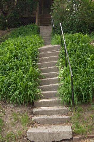 Tilting stairway.