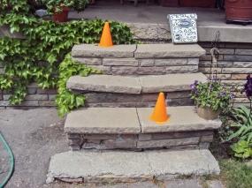 Broken front steps.