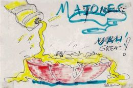 Mayo cartoon by Fellini.