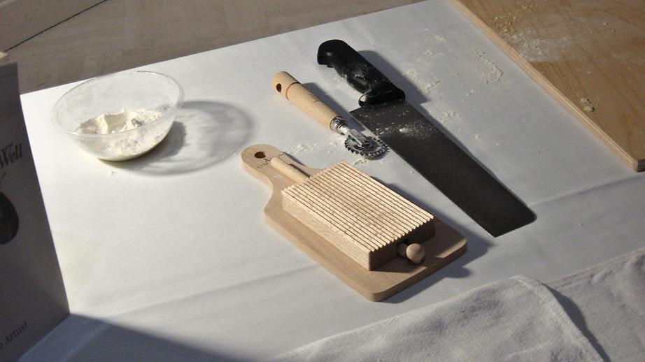 Pasta-making tools.