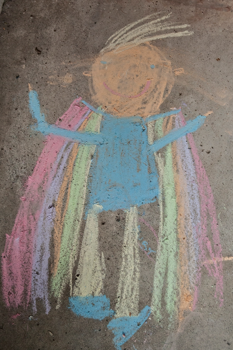 chalk drawing of Stuart