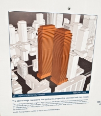 Drawing of proposed new towers.