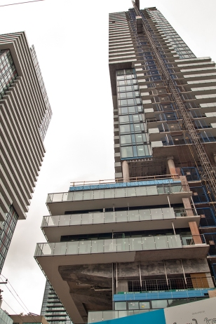 High rise buildings, completed and under construction.