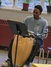 Student drummer