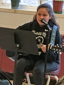 Student guitar player