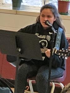 Student guitar player