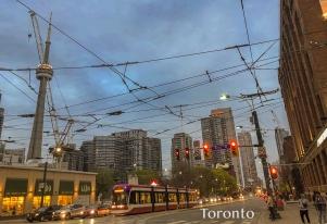 Streetcar wires on Spadina
